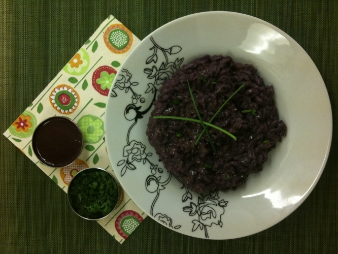 Blueberry Risotto with Chives Recipe