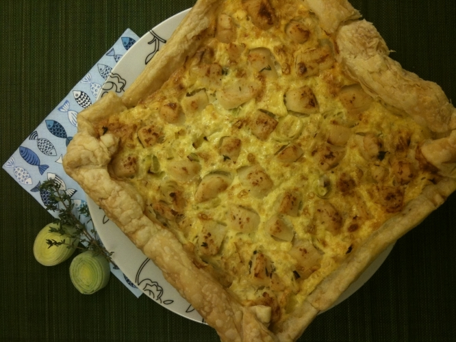 Scallop and Leek Tart Recipe