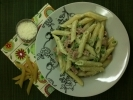 Creamy Penne with Ham and Peas