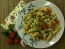 Fusilli with Peas, Shrimp and Cherry Tomato
