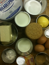 Ingredients for New York Cheesecake