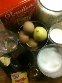 Ingredients for Panettone Bread Pudding