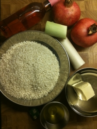 Ingredients for Pomegranate and Cream of Leek Risotto