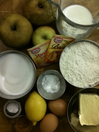 Ingredients for Rustic Apple Cake