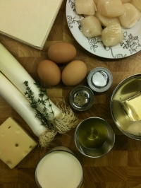 Ingredients for Scallop and Leek Tart