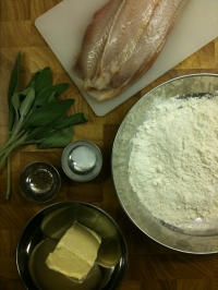 Ingredients for Sole with Butter and Sage