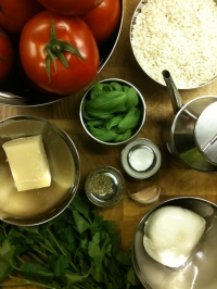 Ingredients for Stuffed Tomatoes with Rice